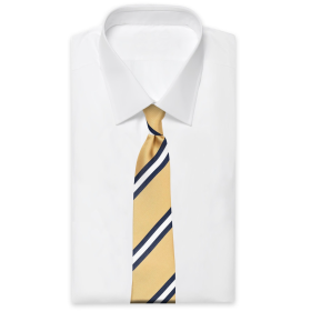 Dusted Yellow Striped Tie An Ivy