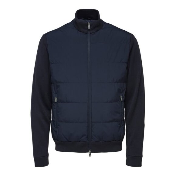 Knit Hybrid Jacket Selected Homme