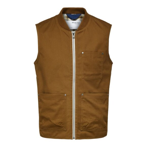 Baker Cotton Vest Selected Homme