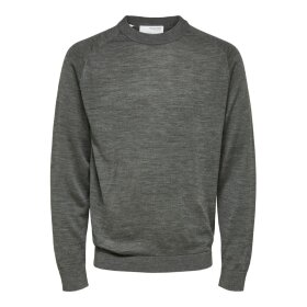 Bladen LS Knit Patch Crew Selected Homme
